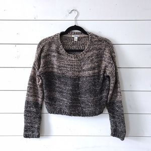 Forever 21 Black Pink Pullover Cropped Sweater
